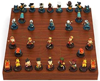 XSWZAQ Fantastic Olympic 36cm / 14in Tournament Wooden Chess Set and Draughts/Checkers, 100% Handcrafted