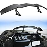 E-cowlboy Wing Spoiler Rear Trunk Lip Spoiler ABS for Ford Mustang Chevy Camaro Dodge Challenger in GT Lambo Style (61.81 Inches Matte Black)
