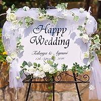 ウェルカムボード ウェディング 結婚式 ブライダル 結婚祝い チュール 店舗看板 造花(ネームシート希望の方は画像参照)