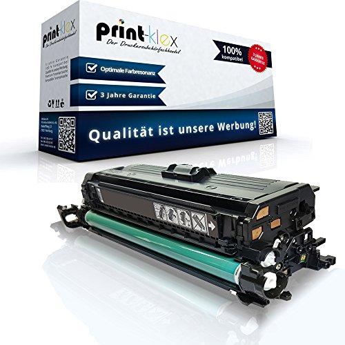 Print-Klex Kompatible Tonerkartusche für HP Color LaserJet Enterprise CP4525 N CP4525 XH CP4525 dn CP4520 dn CP4520 n CE260X CE260A Black
