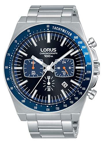 Lorus Sport Herren-Uhr Chronograph Edelstahl mit Metallband RT347GX9