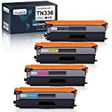 OfficeWorld Compatible Toner Cartridge Replacement for Brother TN336 TN-336 TN331 for Brother MFC-L8850CDW MFC-L8600CDW HL-L8250CDN HL-L8350CDW HL-L8350CDWT (Black, Cyan, Magenta, Yellow), 4-Pack