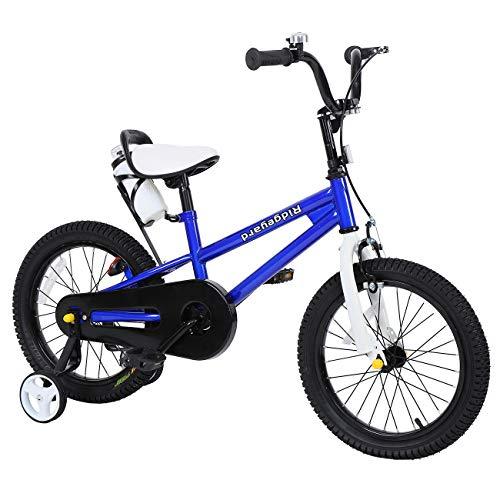 Yonntech Bicicleta Infantil 16 Pulgadas Bicicleta para niños a Partir de 4 años Bici con Frenos (Azul)