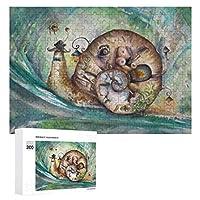 Snail 300ピースのパズル木製パズル大人の贈り物子供の誕生日プレゼント
