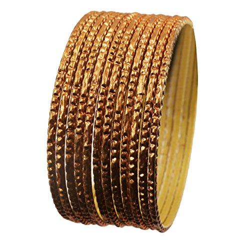 Touchstone Dozzine di bracciali Collezione di Oggetti in Metallo in Lega di Metallo per Donna 2.5 Set di 12 Senape Gialla