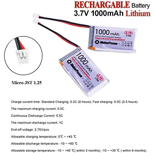 MakerHawk 3,7 V Lithium Akku 3,7 V 1000 mAh Lipo batterien mit Micro JST 1,25-Stecker für Arduino Nodemcu ESP32-Entwicklungsplatine (4 Pack) - 2
