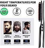 Bartglätterbürste, VLOXO Kabelloser Bartglätterkamm mit LCD-Display, tragbarer USB-Elektro-Heizbartbürste Haar-Ionenglätter-Kamm Anti-Brühe MEHRWEG - 8