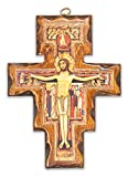 Crucifijo San Damiano de madera – de pared – Fabricado en Umbria Italia – 19 x 14 cm