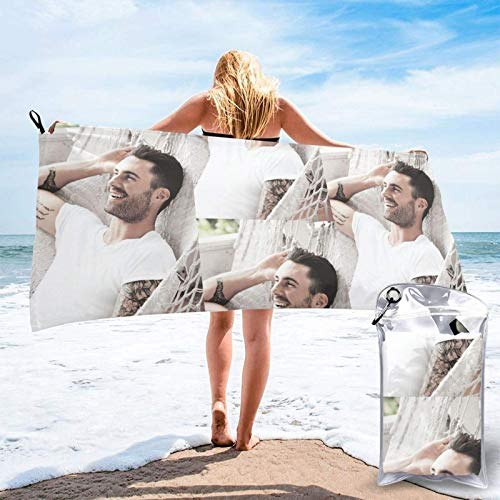 XCNGG AdamLevine Beach Towels Bath Towel Beach Towel Quick Fast Dry Sand Free Beach Towel Ideal Gift for Family, Boyfriend, Best Friend 31.5'x63'