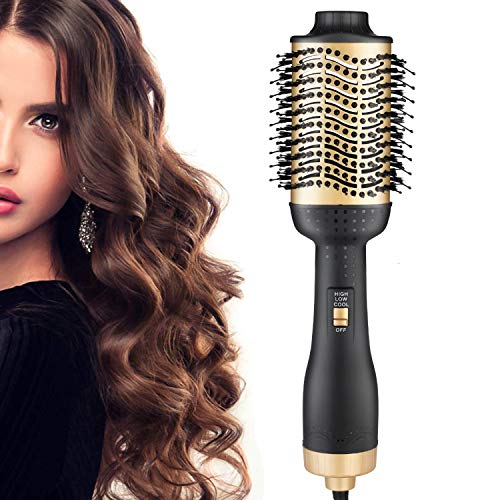 One Step Hair Dryer and Volumizer, szwintec 5 in 1 Hot Air Brush Comb Hair Blow Dryer Styler Brush Negative Ion Hairdryer for All Hair Types