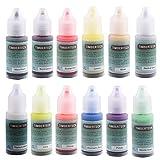 Timbertech Pinturas acrílicas Color para aerógrafo 12 * 10 ml Modelo Base de aire Multicolor Pinturas Pintar pinturas para aerógrafo