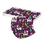 Innerternet 10 protectores bucales infantiles desechables de 3 capas, para Navidad, transpirables, con diseños divertidos, coloridos, para la boca y la nariz 10pcs-a02 Talla única