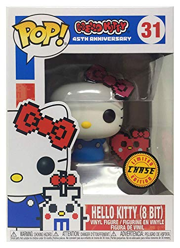 Pop Sanrio: Hello Kitty – Aniversario Hello Kitty con corazon Buddy Edicion Limitada Chase Pop! Figura de Vinilo (Incluye Funda Protectora Compatible con Pop Box)