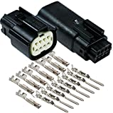Molex 8 Pin Wire Connector, Harley Black Waterproof, Sealed Kit, MX150