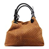 chicca borse 80047, borsa a tracolla donna, marrone (cuoio), 34x29x18 cm (w x h x l)