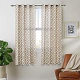 Cortinas de lino de 160 cm para sala de estar, diseño geométrico, diseño de ojal con filtro de luz superior y tratamientos de ventana, 2 paneles, color gris