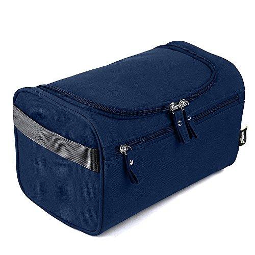 Kulturtasche Herren zum Aufhängen (Blau) - Cool, Lässig, Stylisch - Hochwertiger Männer Kulturbeutel - Waschtasche Männer