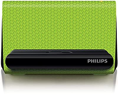 Philips SBA1710 Portable Smartphone Speaker Cradle with 3.5mm Auxiliary Cable Green from MEGA INT'L TRADING GROUP, INC.