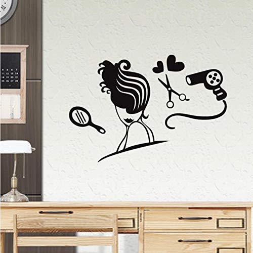 Sexy Fille Cheveux Spa Spa Salon De Beauté bar pub Nail art Mur Art Sticker Decal Decal DIY Maison Décoration Murale 58X85CM