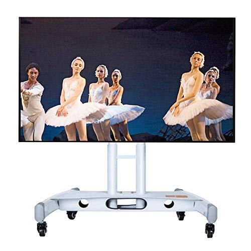 N/Z Daily Equipment Soporte de TV móvil para 32 70 Pulgadas Pantalla LCD TV Sala de conferencias Escenario Soporte de Piso Universal Vertical Cochecito inclinable de 90 Grados Negro (Color: Negro)
