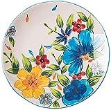 ZHEYANG Piatti Fondi Piatto Piatto Occidentale Cinese Piatto di Carne di Piatto Ristorante Che Cucina Il Vassoio Dinner Plate colorato Posate Vassoio (Colore : Colore, Taglia : 21.3cm)