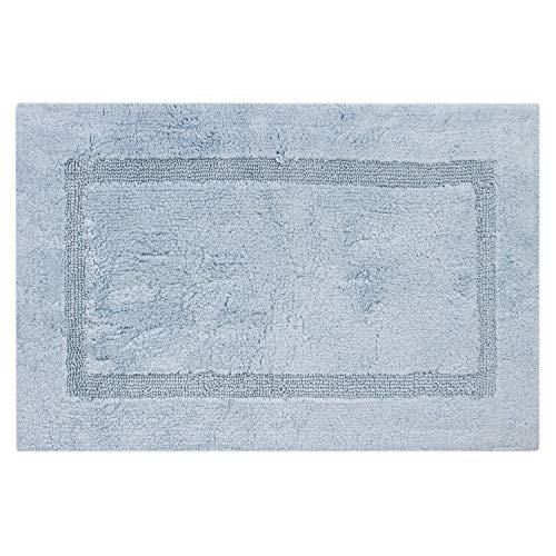 "Royal Touch BFCO 100% Certified Egyptian Cotton Bath Rug, 24"" X 40"", Aqua"