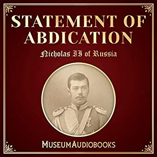 Statement of Abdication audiobook cover art