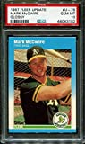 Mark McGwire 1987 Fleer Glossy Rookie Card PSA 10 Gem Mint. rookie card picture