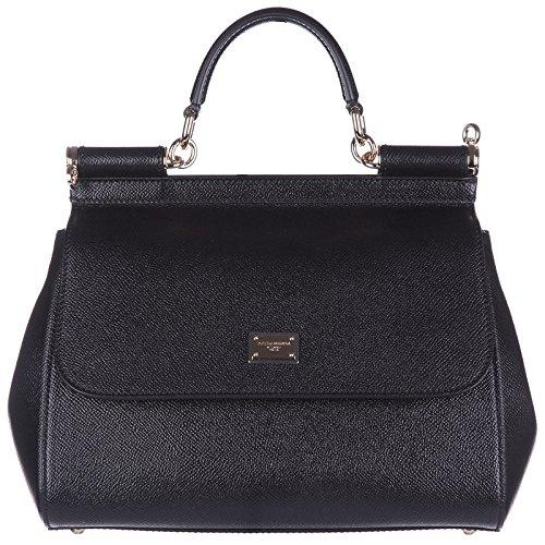 Borse a Mano Dolce&Gabbana Donna Pelle Nero e Oro BB6002A100180999 Nero 10x20x25 cmEU