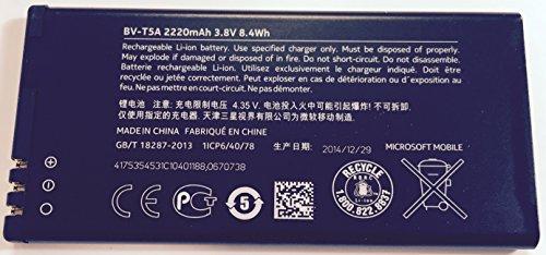 BV T5A-Original NOKIA Lumia/Lumia 730 735 2220mAh Original Akku, 3,8 V, Ersatzakku (ohne Einzelhandelsverpackung) UK Anbieter von Itstek die UK'S Specialist Originalteile.