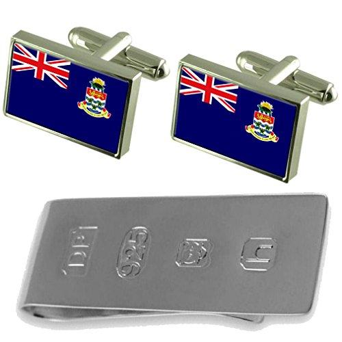 Cayman Islands Flag Cufflinks & James Bond Money Clip