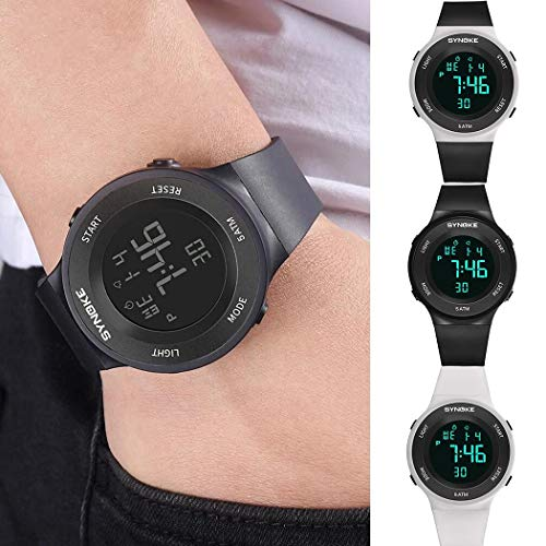 Multi-Function Large Screen Display Alarm Waterproof Wrist Smart Watch $15 (70% Off with code)