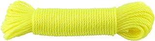 Cuerda de Nylon - Cuerdas de Nylon Cuerdas Tendedero de Ropa Jardín Acampar Al Aire Libre 20m (Color : Yellow)