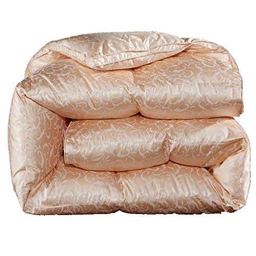 JIAJULL Gans Daunendecke, 150 * 200CM 2kg, Tröster, Wärme for die ganze Saison, 100{2d84155bccd677dfa5b951595e298069a465f3cf3bda1206c486820b9fa99d1b} Daunen Silk Shell