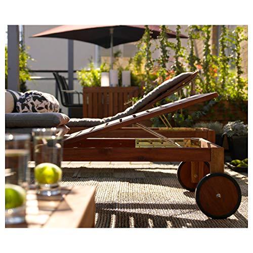 IKEA ÄPPLARÖ tumbona 71x33 cm marrón teñido
