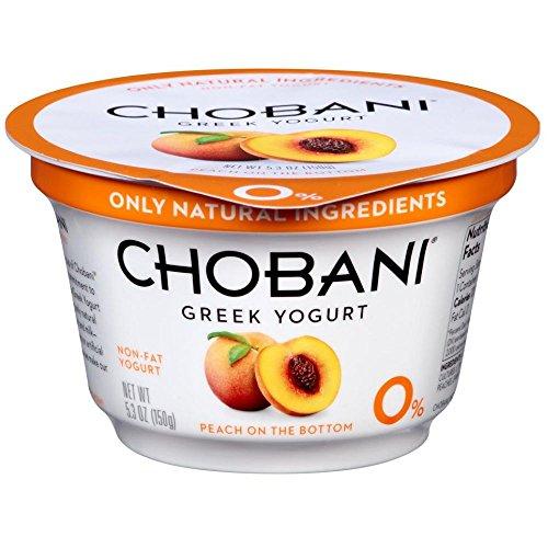 Chobani Peach on the Bottom Non Fat Greek Yogurt, 5.3 Ounce -- 12 per case