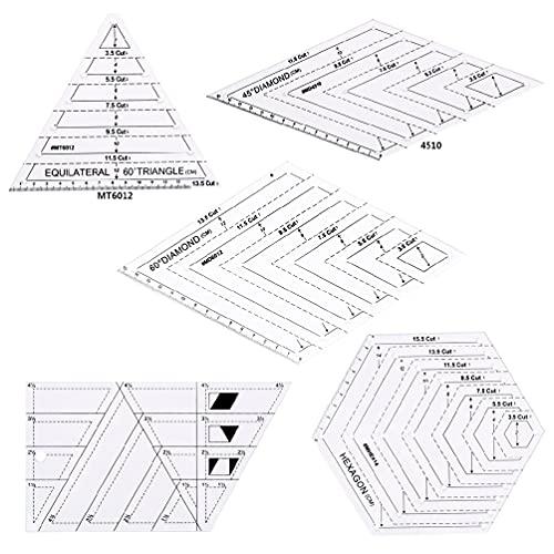 5 unids/set Quilting Costura Patchwork Artesanía Escala Regla Triángulo DIY Hecho a Mano Sastre Herramientas Hogar Curva Francesa Regla en Forma Métrica