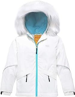 Wantdo Girl's Waterproof Ski Jacket Warm Raincoat with Fur Hood