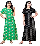 Fabric: 100% soft cotton fabric for ultimate comfort Length: Full Ankle Length 52 Inch Size: Nighty comes in free size and completely comfortable if your Bra Size 32, 34, 36, 38, 40, 42 Inch (Garment Size : Waist -46, Bust-44) Wash Care Instructions:...