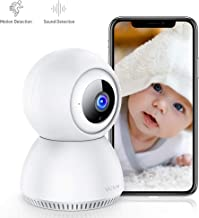 Victure 1080P Home Security Camera Wireless Indoor Surveillance Camera Smart 2.4G WiFi IP camera with 2-Way Audio Night Vision Sound Detection and Motion Tracking for Baby/Pet Monitor with iOS&Android
