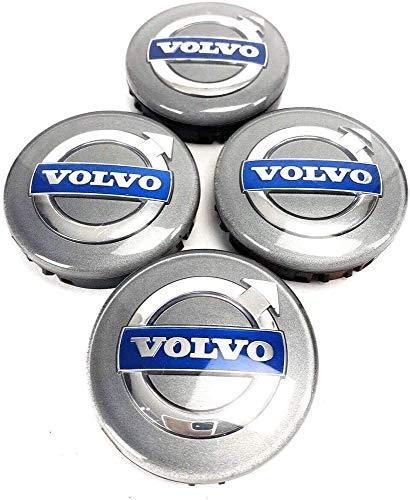 4 Piezas Tapas centrales, para Volvo S40 S60L S80L XC60 XC90 Coche Central Llanta Rueda Cubre Embellecedor Insignia