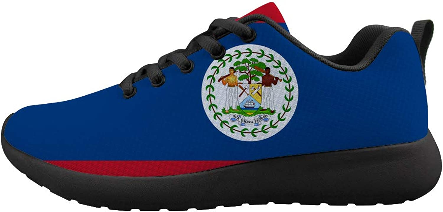 Owaheson Cushioning Sneaker Trail Running shoes Mens Womens Belize Flag