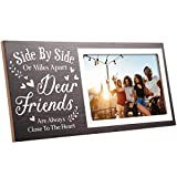 Love Picture Frame for Boyfriend Girlfriend Couples Romantic Photo Frame for Home Wall Decoration Table Centerpieces Frame Rustic Sign, 4 x 6 Inch (Side by Side or Miles Apart)
