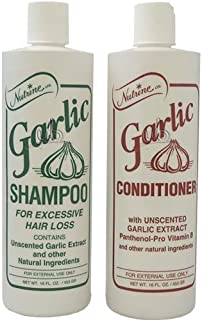 Nutrine Garlic Shampoo + Conditioner Combo Set Unscented 16 oz by Vidimear