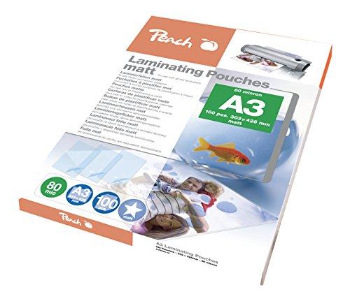 Peach S-PP580-15 Laminierfolien DIN A3, 80 mic, matt, 100 Stück