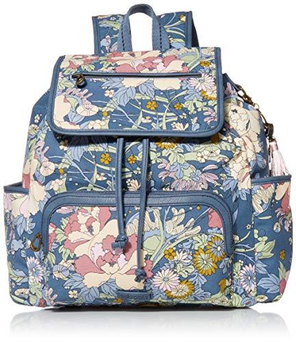 Sakroots Women's Backpack, Denim Flower Power, 14in L x 6in W x 13.5in H Drop: 16 inches Pencil Case: 8in L x 4in W x 2in H