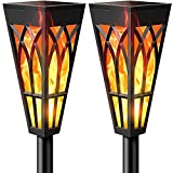 Timeflies Solar Torch Lights with Flickering Flame, Outdoor Landscape Garden Patio Pathway Yard Decoration Lighting, 2-Pack