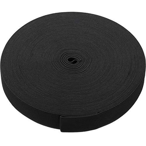 eBoot Elastic Spool (1 Inch x 22 Yard,Black)