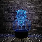 Lámpara de ilusión 3D Luz de noche Led Star Wars Darth Maul Vassal Jedi K Figura Multicolor Visual Touch USB Dormitorio Mood Aras Regalo