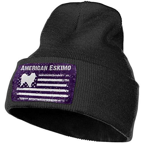 AEMAPE Sombrero de Punto Unisex Gorro de Calavera de Moda Sombreros de Punto - Bandera de América Esquimal Estadounidense